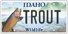 Idaho wildlife license plates purchase or renew for Renew fishing license